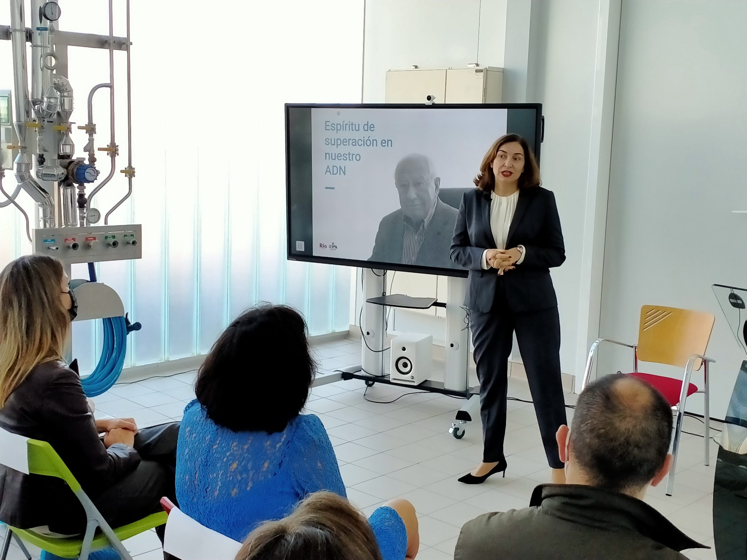 Carmen Lence en el lanzamiento de OptiPRO